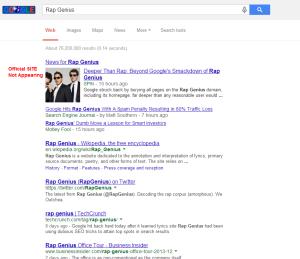 RapGenius Google Search