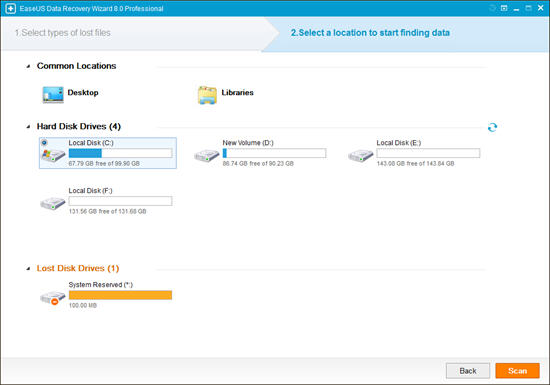 Data Recovery Wizard Free Interface