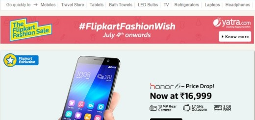 flipkart honor 6
