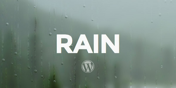 rain wordpress theme