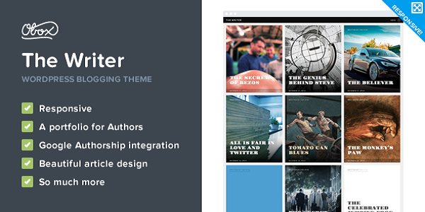 the writer wordpress theme