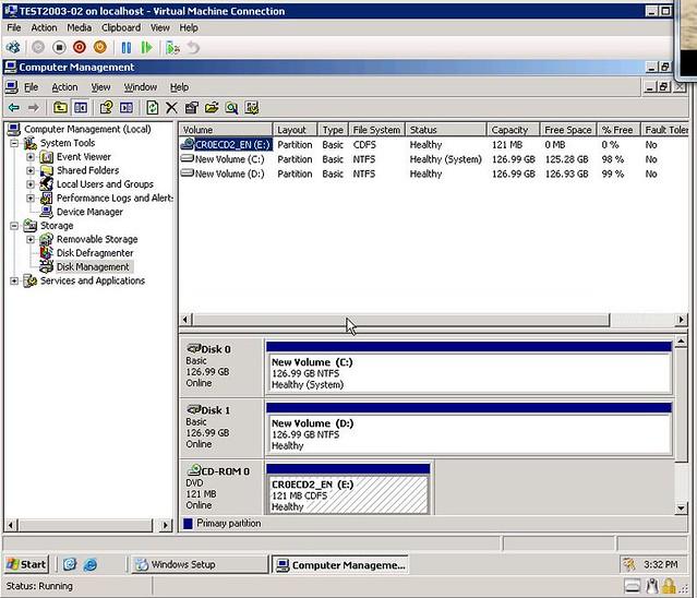 Windows Disk Storage